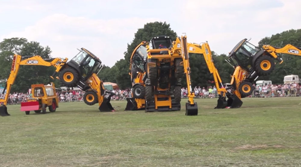 Excavator Tractors Dancing is a Must-See