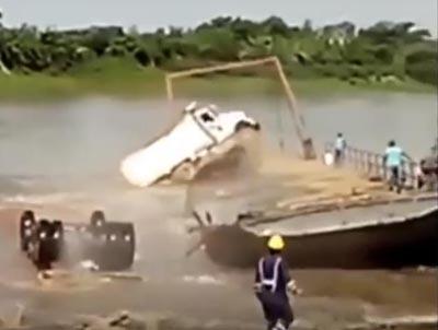 Watch These Dump Trucks Take A Bath