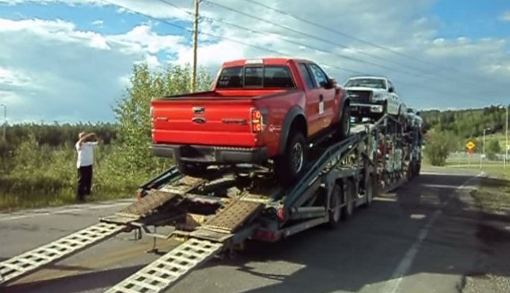How Not To Unload a New Ford Raptor