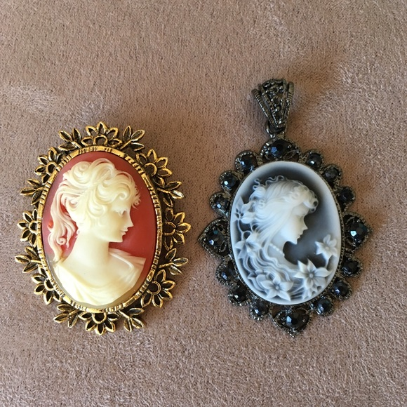 household items, cameo jewelry