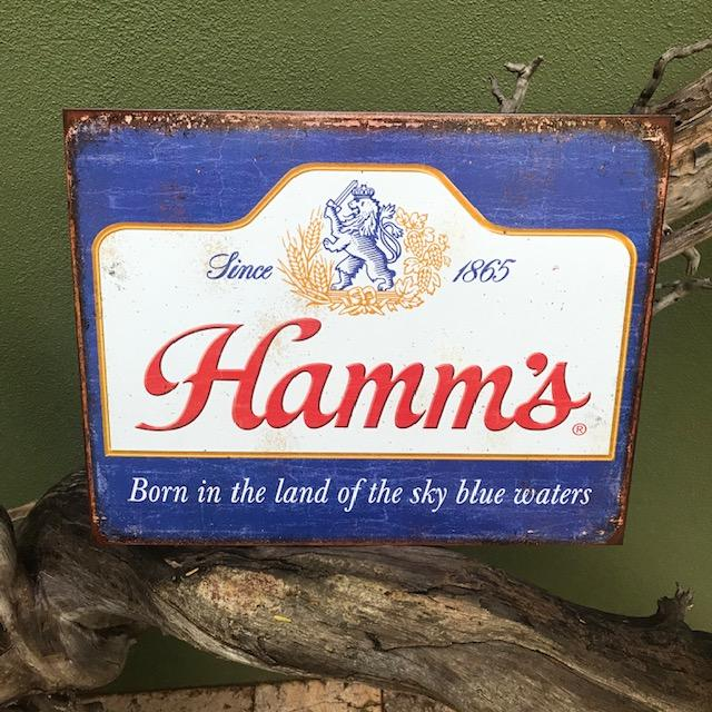 household items, metal signs