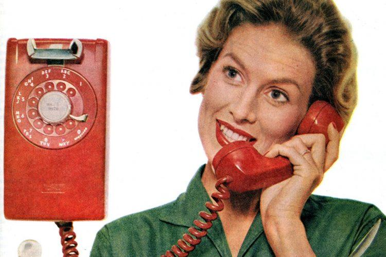 household, rotary phone