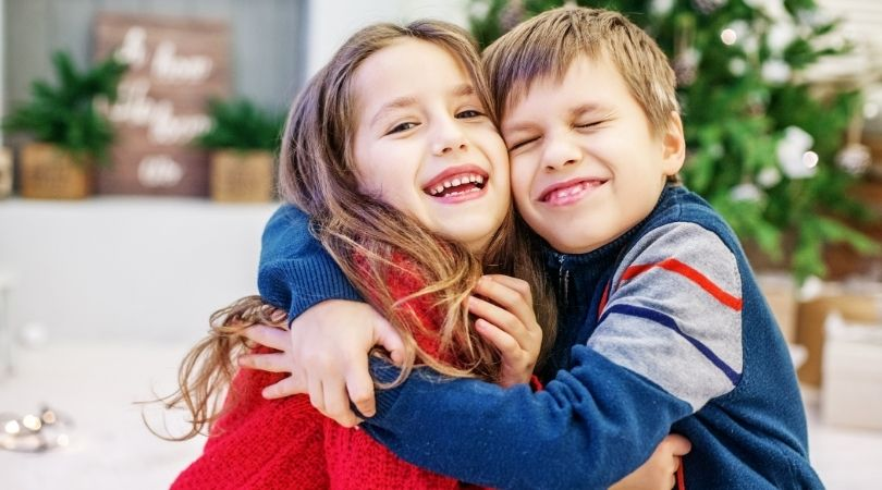 Funny Kids Are Hugging
